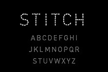Stitch Hand Drawn Vector Type Font In Cartoon Comic Style