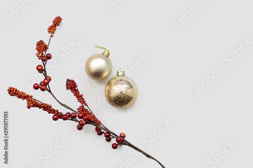 Adornos de navidad y planta decorativa Slika na platnu