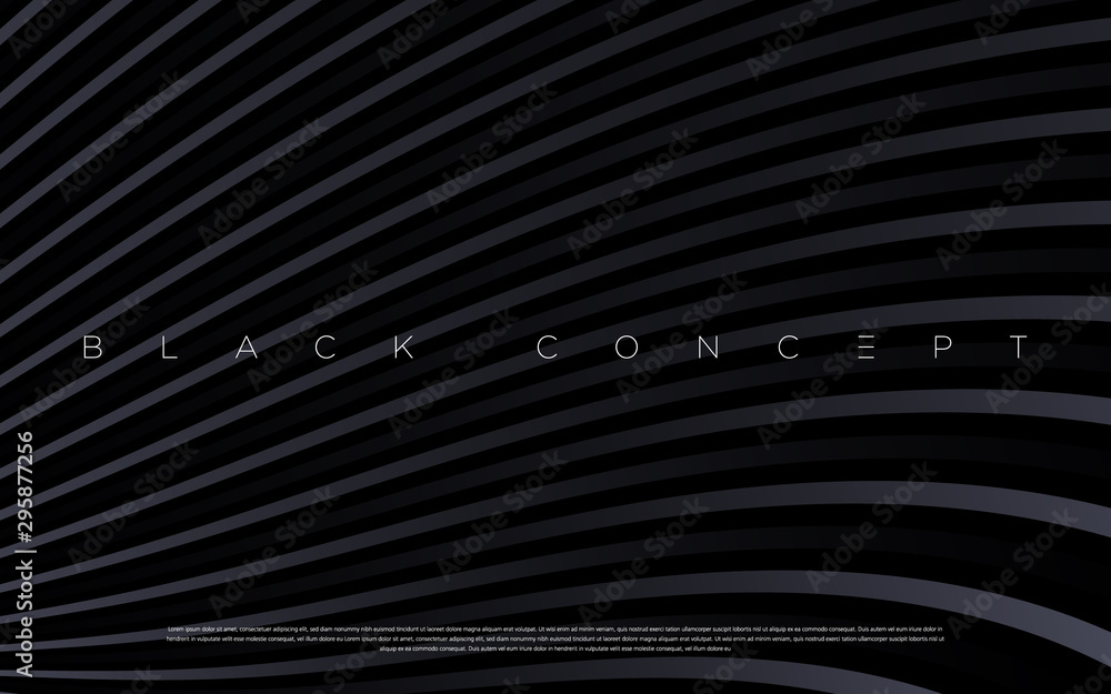 Fototapeta Minimalist black premium abstract background with luxury dark gradient geometric elements. Rich background for exclusive design. - Vector