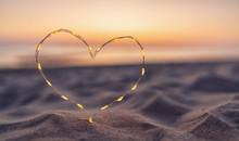 Heart Shape Made Of Led Lights...