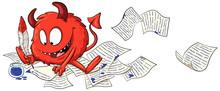 Niedlicher Schreibender Teufel...