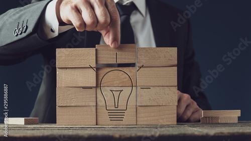 Obraz Conceptual image of business vision and idea - fototapety do salonu