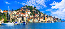 Beautiful Places Of Croatia - Magnifiicent Medieval Coastal Town  Sibenik In Dalmatia