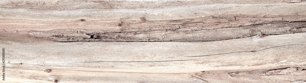 Fototapeta Aged and distressed natural beige wood texture background