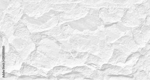 Photo White stone grunge background, rough rock wall texture