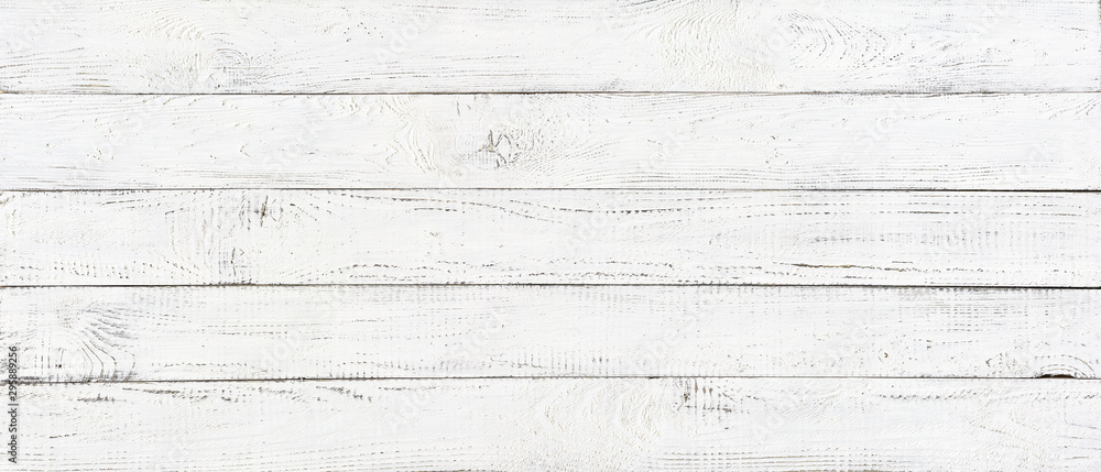 Fototapety, obrazy: white wood texture background, wide wooden plank panel pattern