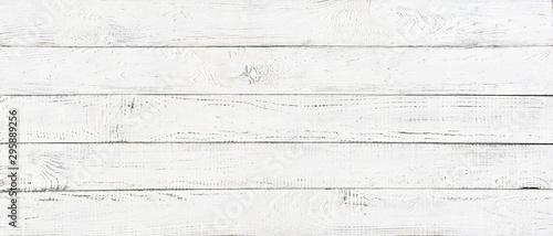 Fotografía  white wood texture background, wide wooden plank panel pattern