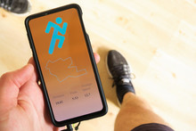 Smartphone With Running Tracking App