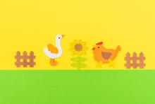 White Duck And Chicken Farm An...