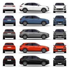 Realistic SUV Car. Cars Set. F...