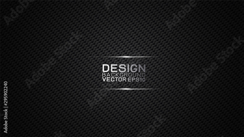 Poster Artificiel Vector design trendy and technology concept background. Dark carbon fiber texture and copy space on dark background, Abstract futuristic technology template.