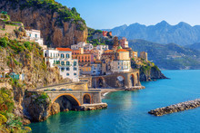 Atrani Town On Amalfi Coast, S...