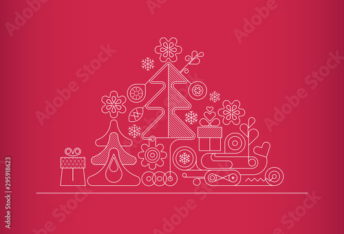 Tuinposter Abstractie Art Christmas Background