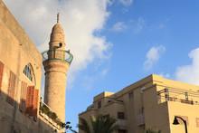 Mosque With Minaret In Tel Avi...