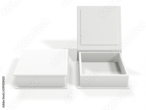 White blank cardboard box isolated on white background Fototapeta
