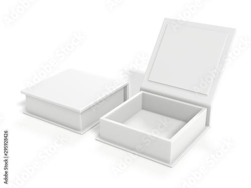 Obraz na plátně White blank cardboard box isolated on white background