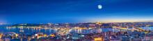 Istanbul And Bosporus At Night...