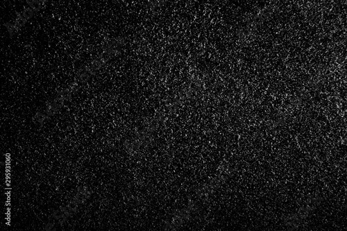 Pinturas sobre lienzo  abstract real dust floating over black background for overlay