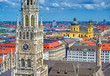 canvas print picture - The New Town Hall located in the Marienplatz in Munich, Germany