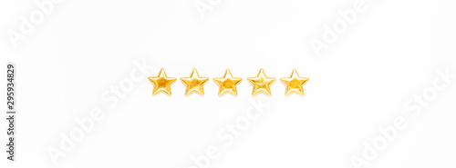 Five stars Customer Experience Feedback Concept