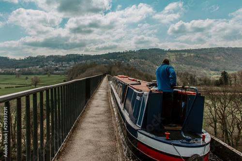 Fototapeta Aquaduct Canal Boat