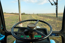 View From Tractor Cab On Field
