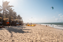 Cumbuco, Ceara / Brazil - Circa September 2019: Sunny Day In Cumbuco Beach, Famous Place Near Fortaleza, Ceara, Brazil.