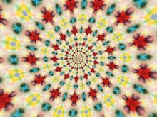 Colorful Digital Graphic Kaleidoscope Symmetry Mandala Style In Laser Light Trial Pattern, Tie Dye , Spiderweb Art Abstract Background For Art Projects, Banner, Business,   Card, 3D, Template