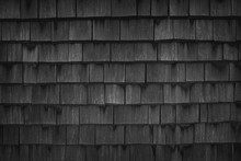 Close Up Of Black Wood Roof Sh...