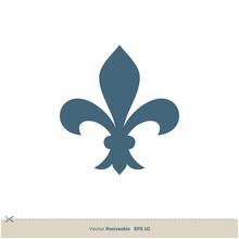 Fleur De Lis Icon Vector Logo Template Illustration Design. Vector EPS 10.