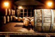 Barrels In A Dark Cellar.