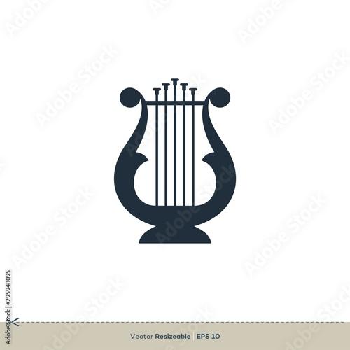 Fototapeta Harp Icon Vector Logo Template Illustration Design