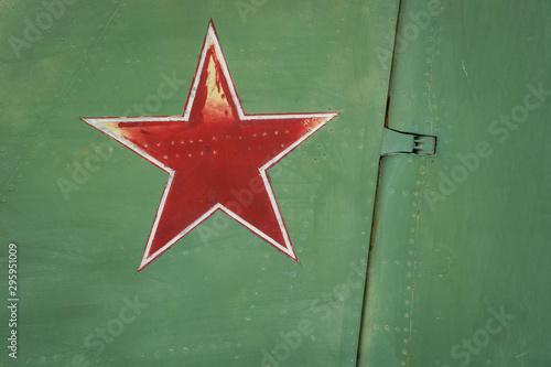 Star on the tailplane of a battle fifghter. Wallpaper Mural