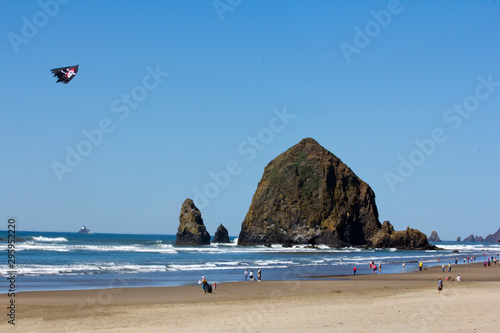 Canvas Print Haystack by Cannon Beach