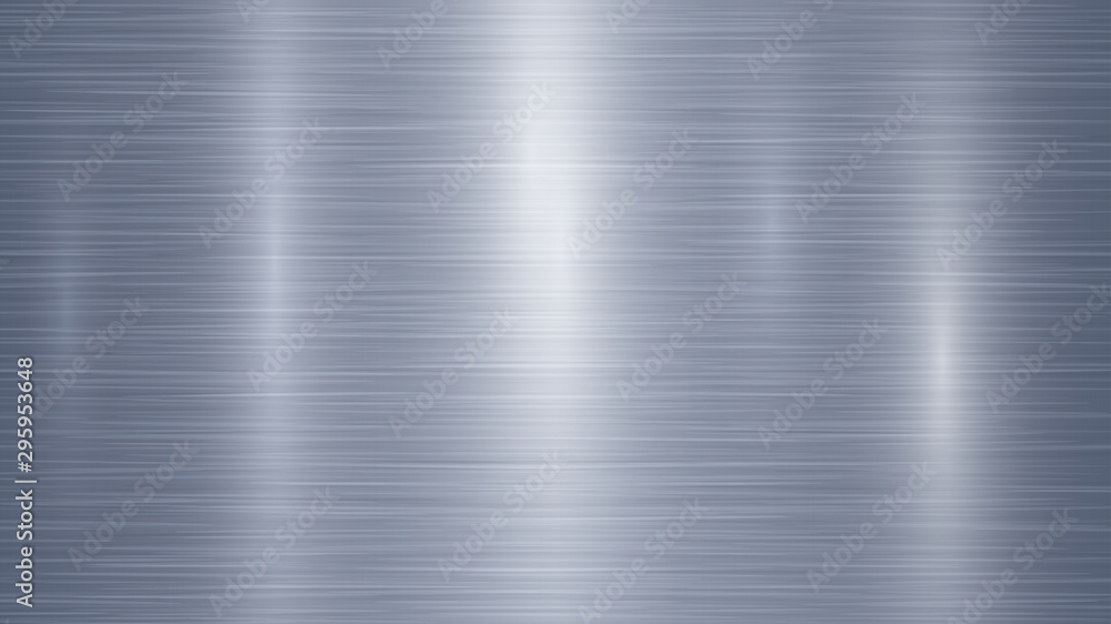 Fototapety, obrazy: Abstract metal background with glares in light blue colors