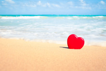 Heart In The Sand On A Beautif...