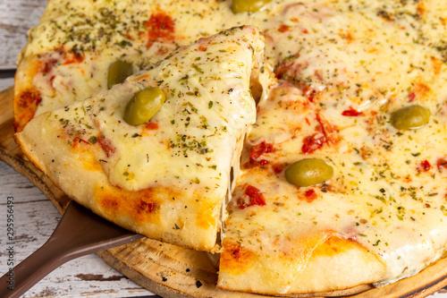 Photo una porcion de pizza