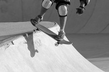 Skater Dropping In A Bowl