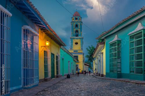 Fototapeta  Trinidad, Cuba, ciudad colonial y colorida detenida en el tiempo, destino turistico del caribe