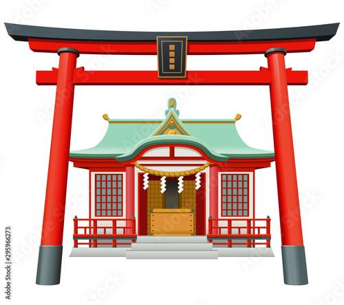 Fototapeta Shrine/神社(鳥居)