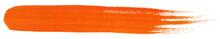 Orange Stroke Of Gouache Paint Brush Isolated On White Background