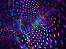 Abstract Neon Glowing Spots - ...