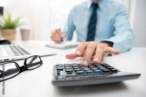 Accountant calculate tax information