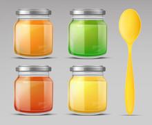 Baby Food Jars And Plastic Spo...