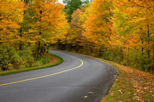 Beautiful Curved Country Road ...