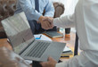 Financial accountants plan business meeting reports