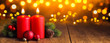 canvas print picture Christmas Candle Composition