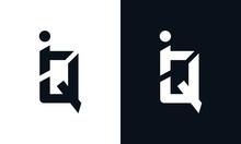 Modern Abstract Letter IQ Logo...