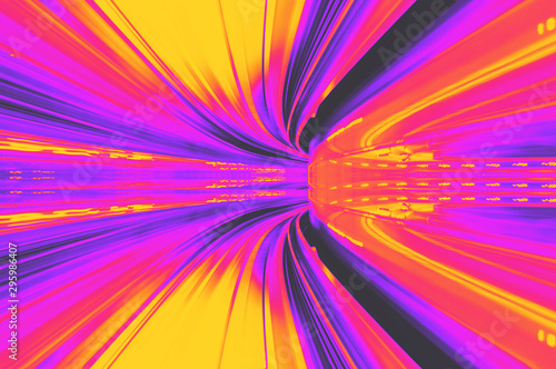 Fotomural  Abstract high speed technology concept image from the Yuikamome automated guidwa