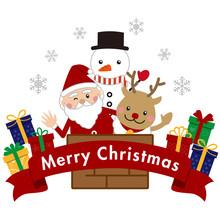クリスマス サンタと...
